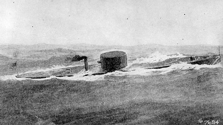 USS Monitor at Sea