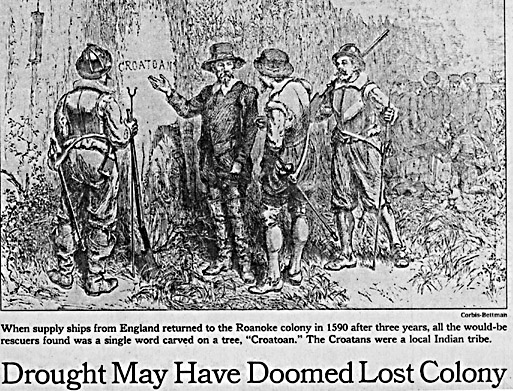Lost Colony of Roanoke Island not found