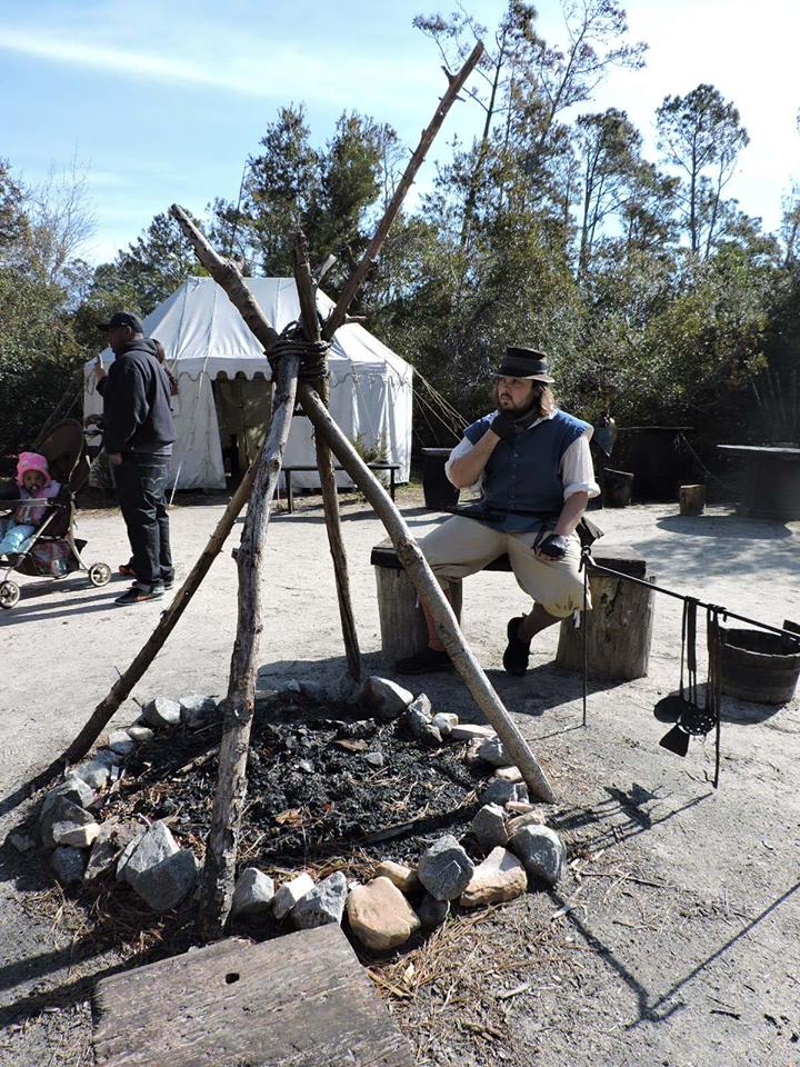 Roanoke Settlement enactment at Roanoke Island Festival Park